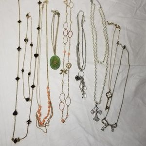 Lot of 8 Necklaces Costume Jewelry